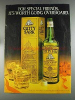 1980 Cutty Sark Scotch Ad - Worth Going Overboard