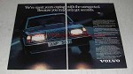1980 Volvo Cars Ad - Coping With the Unexpected