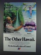 1980 United Airlines Ad - James A. Michener - Hawaii