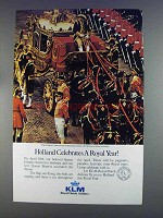 1980 KLM Airline Ad - Holland Celebrates a Royal Year