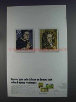 1980 Deutsche Bundespost European History Stamps Ad