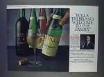 1980 Bolla Trebbiano Wine Ad - Welcome to Family