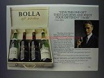 1980 Bolla Wine Ad - Open And Enjoy Four Times