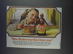 1980 Mrs. Butterworth's Syrup Ad - I Love You