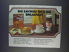 1980 Pillsbury Hungry Jack Pancake Mix Ad - Savings