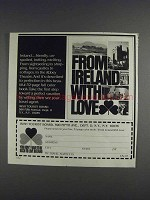 1980 Ireland Tourist Board Ad - From Ireland With Love