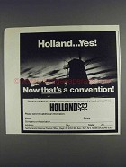1980 Holland Tourism Ad - Now That's a Convention