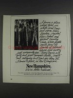 1980 New Hampshire Tourism Ad - White Birch Trees