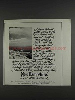 1980 New Hampshire Tourism Ad - I Know a Place