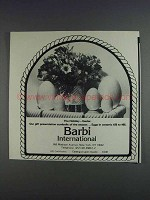 1980 Barbi International Ceramic Eggs Ad - Easter