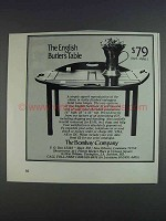 1980 The Bombay Company English Butler's Table Ad