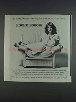 1980 Roche Bobois Chair Ad - Exciting Furniture
