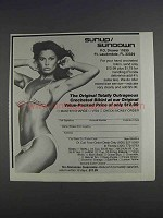 1980 Sunup / Sundown Crocheted Bikini Ad