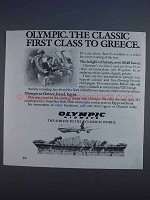 1980 Olympic Airways Ad - The Classic First Class