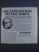 1980 Olympic Airways Ad - An Expedition to the Dawn
