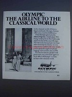 1980 Olympic Airways Ad - To The Classical World
