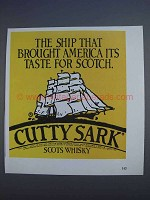 1980 Cutty Sark Scotch Ad - Ship That Brought America