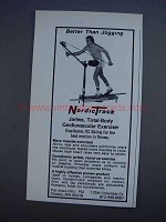 1980 NordicTrack Exercise Machine Ad - Better Jogging