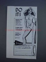 1980 Frederick's of Hollywood Lingerie Ad - Do It!
