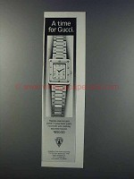 1981 Gucci Watch Ad - A Time for Gucci