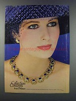 1981 Monet Jeweled Tone Stone and Enameled Jewelry Ad