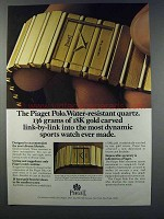 1981 Piaget Polo Watch Ad - Water-Resistant Quartz