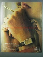 1981 Corum 5 Gram Ingot Watch Ad - I'll Stake My Corum