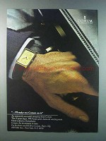 1981 Corum 15 Gram Ingot Watch Ad - I'll Stake My Corum