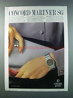 1981 Concord Mariner SG Watch Advertisement