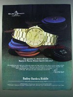 1981 Baume & Mercier Riviera Watch Ad - The Question Is