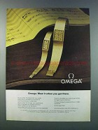 1981 Omega Watches Ad - Wear It When You Get There