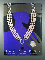 1981 David Webb Necklace and Ring Ad