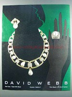 1981 David Webb Necklace, Earrings and Ring Ad