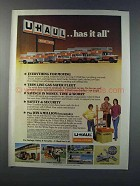 1981 U-Haul Moving & Storage Ad - Has it All