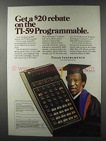 1981 Texas Instruments TI-59 Calculator Ad - Bill Cosby