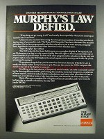 1981 Sharp 5100 Scientific Calculator Ad - Murphy's Law