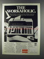 1981 Sharp CS-4266 Calculator Ad - The Workaholic