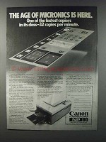 1981 Canon NP-80 Copier Ad - Age of Micronics