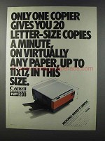 1981 Canon NP-200 Copier Ad - Only One Copier Gives