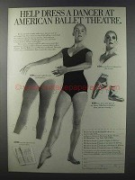 1981 American Ballet Theatre Ad - Help Dress a Dancer