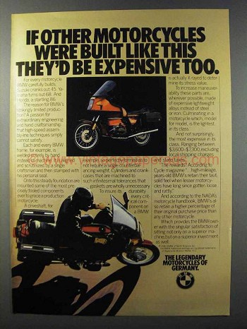 1981 BMW Motorcycles Ad - If Other Were Built Like This
