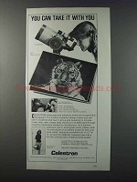 1981 Celestron C5 and C8 Telescopes Ad - Take It With