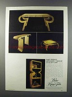 1981 Baker Alessandro Furniture Ad - As an Art Form