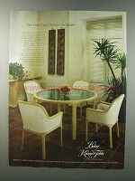 1981 Baker Linea Cara by Karl Rausch Furniture Ad
