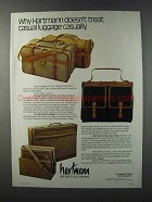 1981 Hartmann Over, Hanger and Nouveau Hobo Luggage Ad