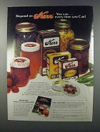 1981 Kerr Jars, Caps and Lids Ad - Depend On
