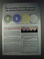 1981 Wedgwood Seasons Plate Series Ad - Unending Cycle