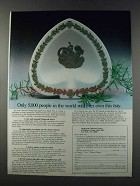 1981 Wedgwood Sage Green Spade Tray Ad - Only 5,000