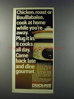 1981 Rival Crock-Pot Ad - Chicken, Roast