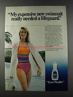 1981 Woolite Cold Water Wash Ad - Expensive Swimsuit
